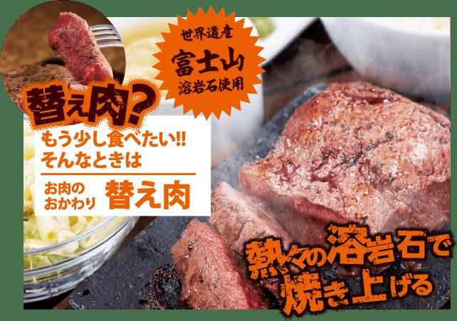 替え肉? もう少し食べたい!!そんなときはお肉のおかわり替え肉